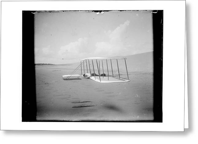 Negative Greeting Cards - Wilbur Wright on Glider Greeting Card by MMG Archives