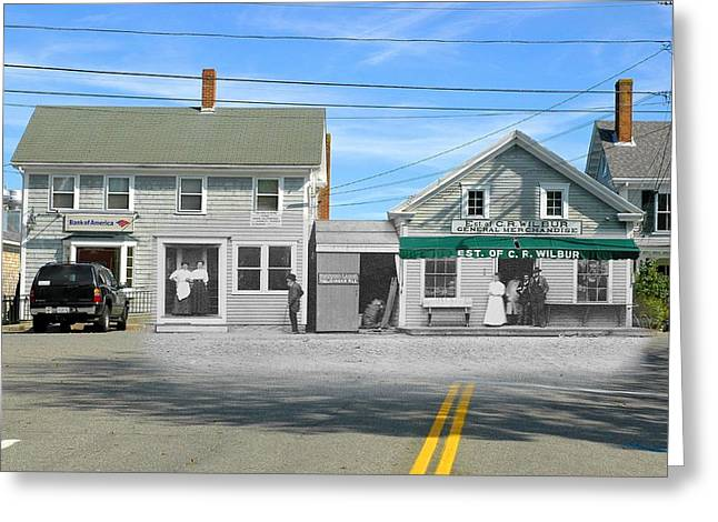 Historic Country Store Greeting Cards - Wilburs Store on the Commons in Little Compton Rhode Island Greeting Card by Jeff Hayden