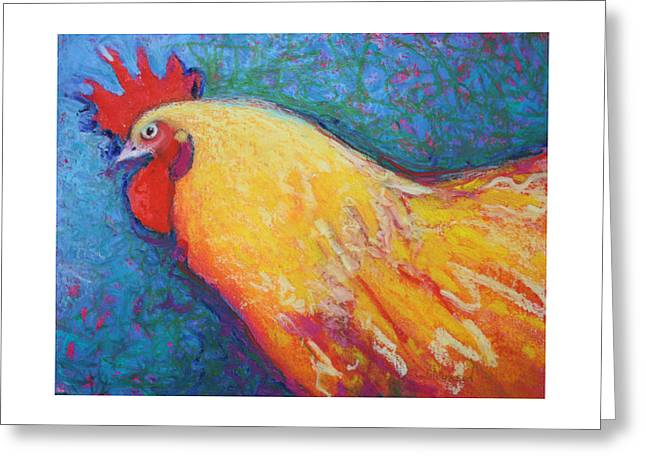 Rooster Pastels Greeting Cards - Wilcoxson Greeting Card by Jane