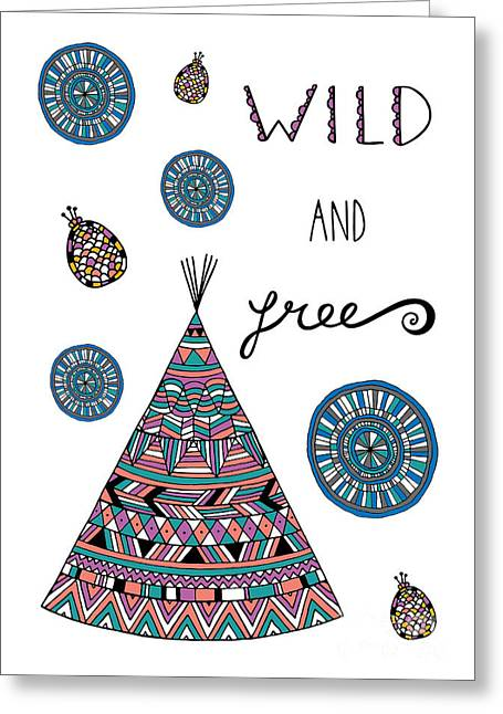 Surface Design Greeting Cards - Wild And Free Greeting Card by Susan Claire