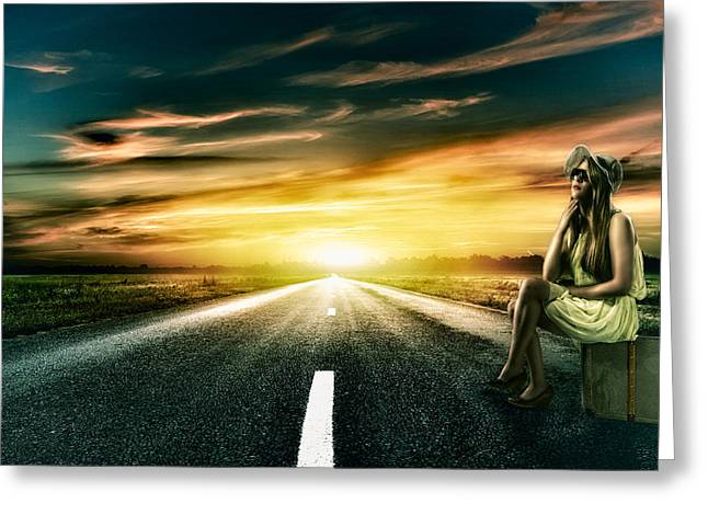 Roadside Art Greeting Cards - Wild at Heart Greeting Card by Erik Brede