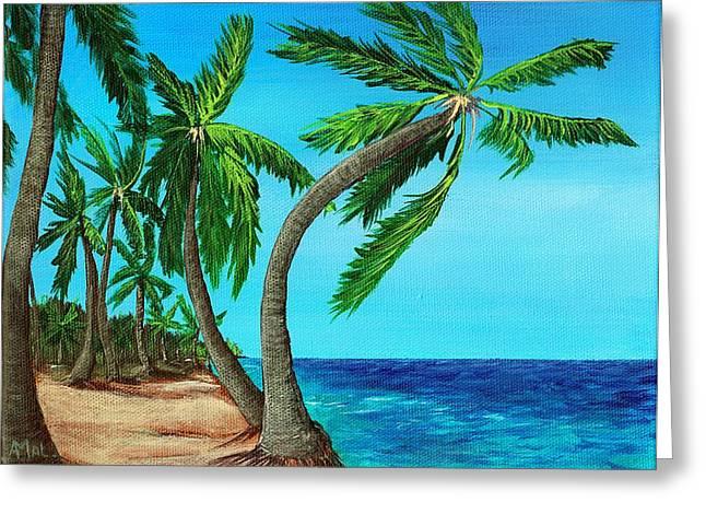 Beach Landscape Drawings Greeting Cards - Wild Beach Greeting Card by Anastasiya Malakhova