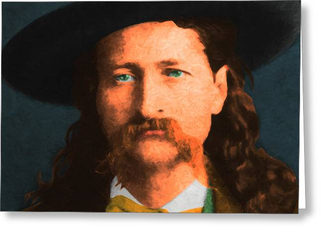 Wild Bill Hickok 20130518 Square Greeting Card by Wingsdomain Art and Photography