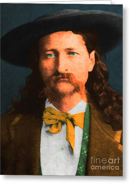 Hickok Greeting Cards - Wild Bill Hickok 20130518 Greeting Card by Wingsdomain Art and Photography