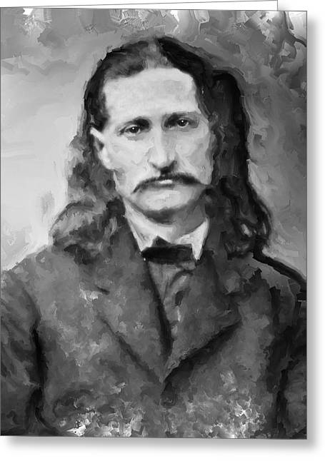 Wild Bill Greeting Cards - Wild Bill Hickok - American Gunfighter Legend Greeting Card by Daniel Hagerman