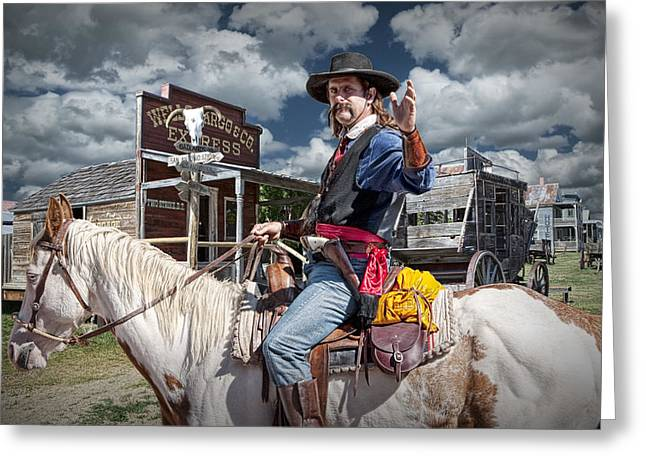 Hickok Greeting Cards - Wild Bill Greeting Card by Randall Nyhof