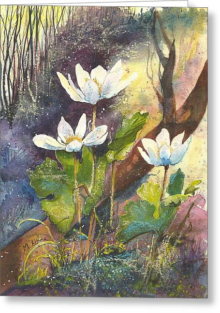 Spring Pastels Greeting Cards - Wild Bloodroot  Greeting Card by Madelaine Alter
