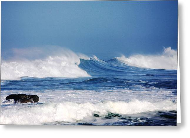 Ocean Art Photography Greeting Cards - Wild Blue Greeting Card by Kandy Hurley