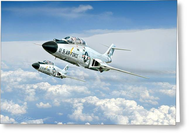 F-101 Greeting Cards - Wild Blue Voodoos Greeting Card by Peter Chilelli