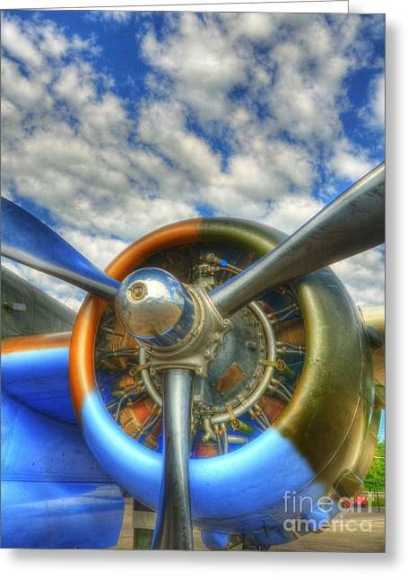 Aircraft Radial Engine Greeting Cards - Wild Blue Yonder 3 Greeting Card by Mel Steinhauer