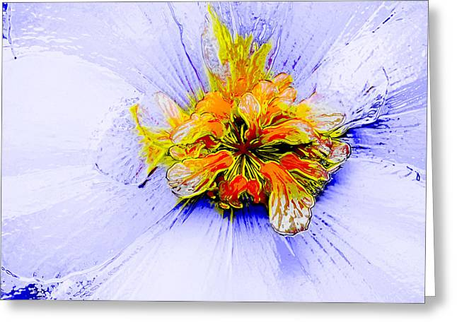 Floral Digital Art Digital Art Greeting Cards - Wild Child Greeting Card by Bill Caldwell -        ABeautifulSky Photography