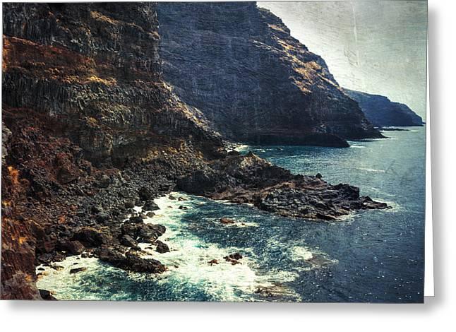 Inseln Greeting Cards - Wild Coast - La Palma - Canary Islands Greeting Card by Dirk Wuestenhagen