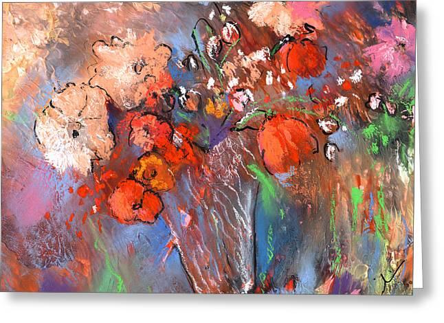 Wild Flower Bouquets 03 Greeting Card by Miki De Goodaboom