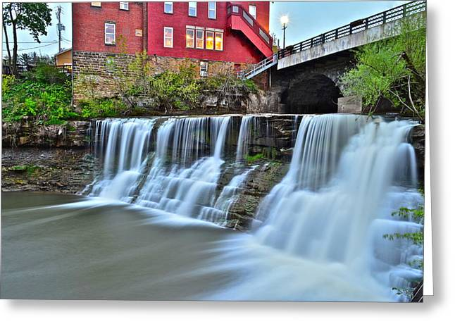 Majestic View Greeting Cards - Chagrin Falls Ohio Greeting Card by Frozen in Time Fine Art Photography