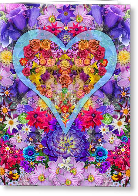Wild Pansy Greeting Cards - Wild Flower Heart Greeting Card by Alixandra Mullins