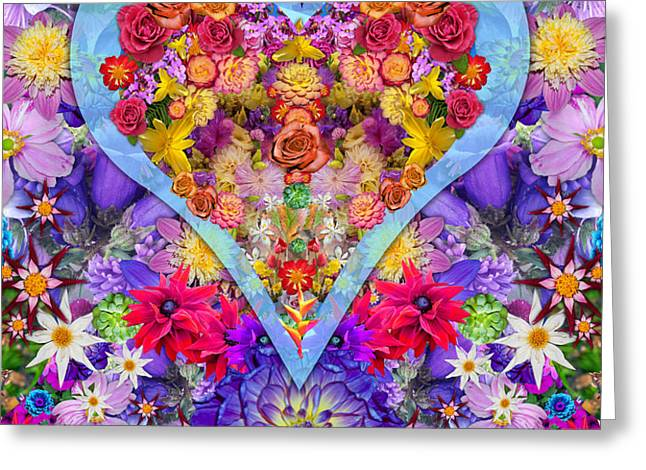 Wild Flower Heart Greeting Card by Alixandra Mullins