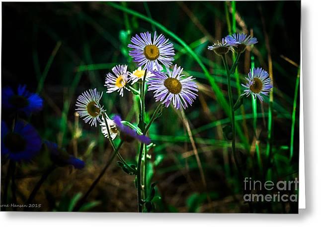 Wild Flowers 115 Greeting Card by Arne Hansen