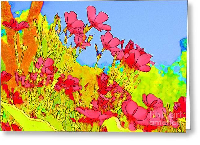 Wild Flowers In Bloom Greeting Card by Julie Lueders