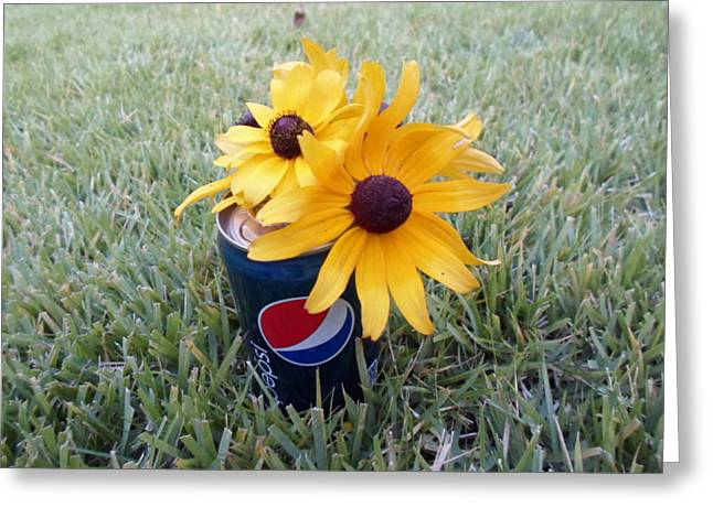 Pepsi Can Greeting Cards - Wild Flowers Greeting Card by Jenna Mengersen