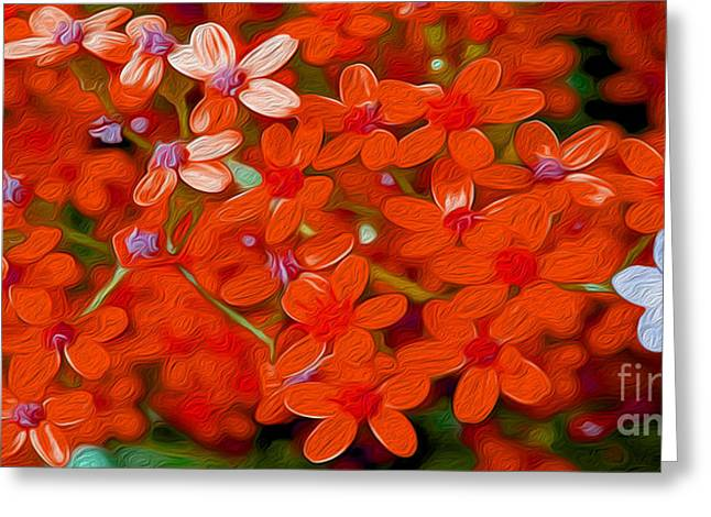 Flower Still Life Mixed Media Greeting Cards - Wild Flowers Greeting Card by Jon Neidert