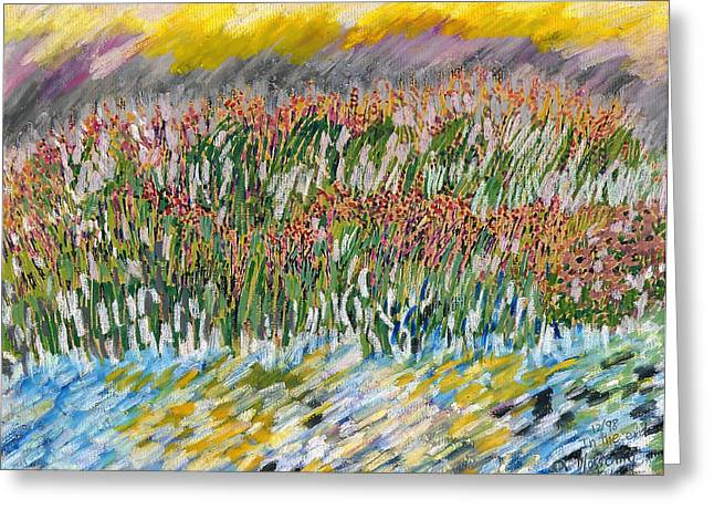Row Pastels Greeting Cards - Wild Flowers Greeting Card by Kah Wah Tan