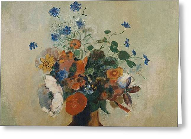 Wild Flowers Greeting Card by Odilon Redon