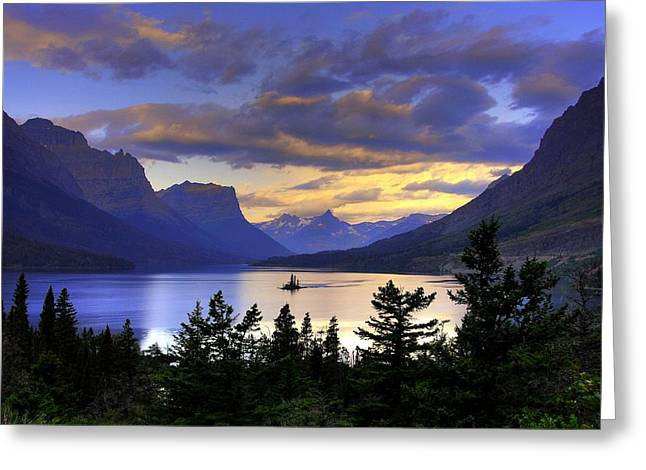 Mountain Greeting Cards - Wild Goose Island Greeting Card by Mel Steinhauer