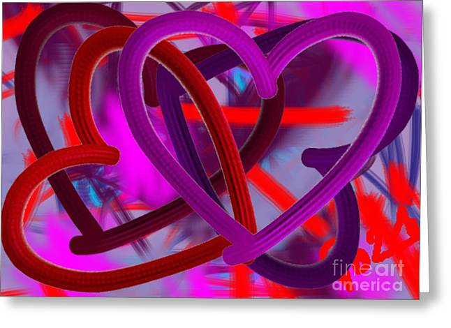Affirmation Greeting Cards - Wild hearts Greeting Card by Go Van Kampen