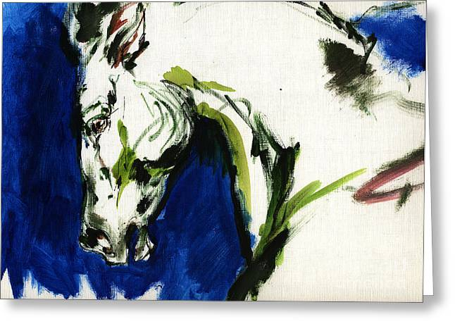 Abstract Expression Greeting Cards - Wild Horse Greeting Card by Angel  Tarantella