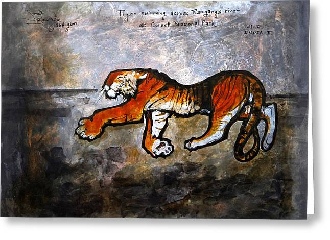 Installation Art Paintings Greeting Cards - Wild India Greeting Card by Sumit Banerjee