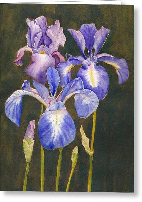 Women Only Greeting Cards - Wild Iris Greeting Card by Melanie Harman
