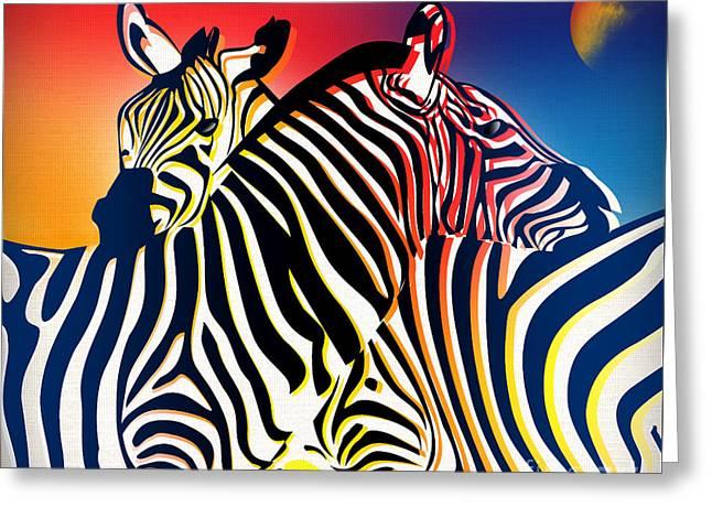 Animals Love Greeting Cards - Wild Life 2 Greeting Card by Mark Ashkenazi