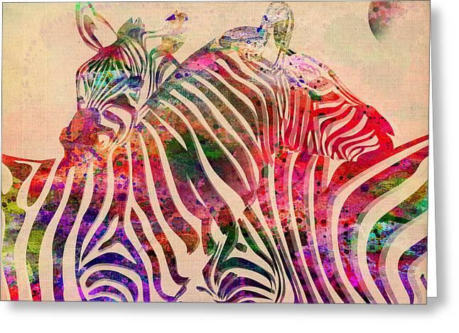 Beautiful Zebra Greeting Cards - Wild Life 3 Greeting Card by Mark Ashkenazi