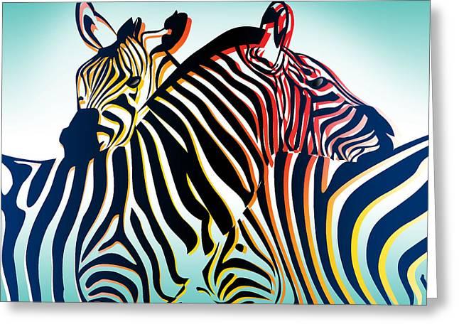 Beautiful Zebra Greeting Cards - Wild Life  Greeting Card by Mark Ashkenazi