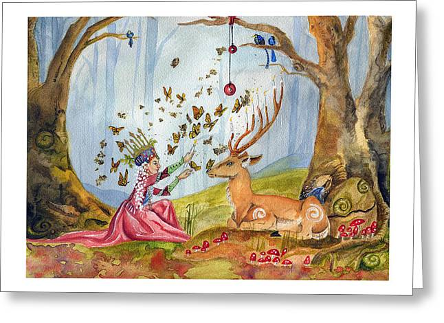 Purim Greeting Cards - Wild Menorah Greeting Card by Dawnstarstudios