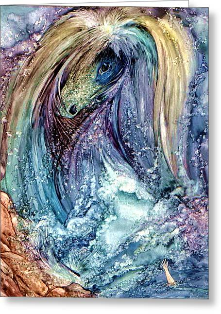 Sea Horse Greeting Cards - Wild Mother Nature Greeting Card by Mikhail Savchenko