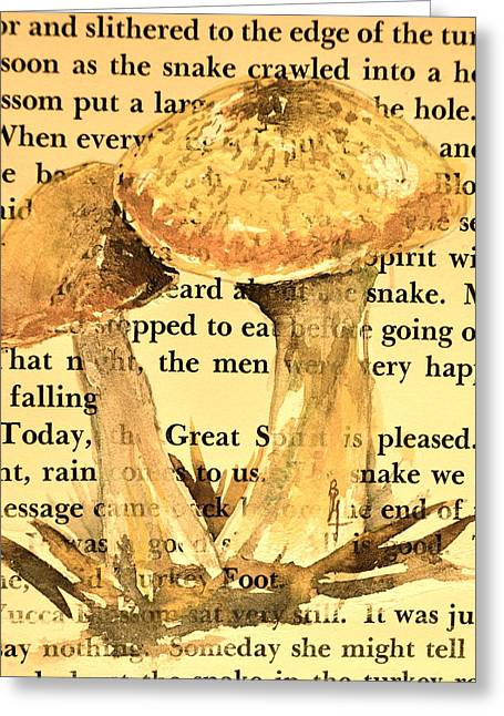 Wild Mushrooms Warm And Subtle Greeting Card by Beverley Harper Tinsley