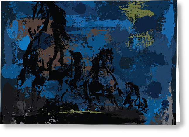 Riding Boots Digital Art Greeting Cards - Wild Night Greeting Card by Brenny Moore