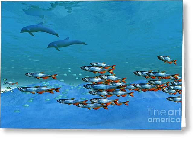 Ocean Images Digital Art Greeting Cards - Wild Ocean Greeting Card by Corey Ford