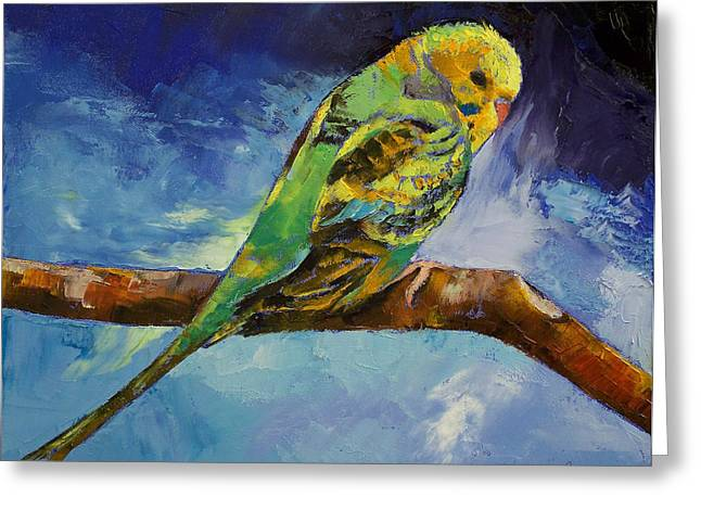 Wild Parrots Greeting Cards - Wild Parakeet Greeting Card by Michael Creese