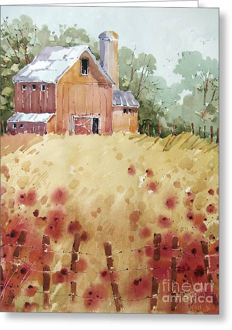 Joyce Hicks Greeting Cards - Wild Poppies Greeting Card by Joyce Hicks