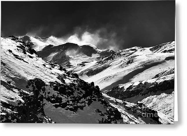 Ski Art Greeting Cards - Wild Ride in the Andes Greeting Card by John Rizzuto