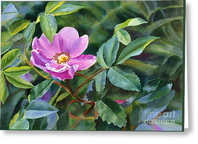 Roses Greeting Cards - Wild Rose Blossom 2 Greeting Card by Sharon Freeman