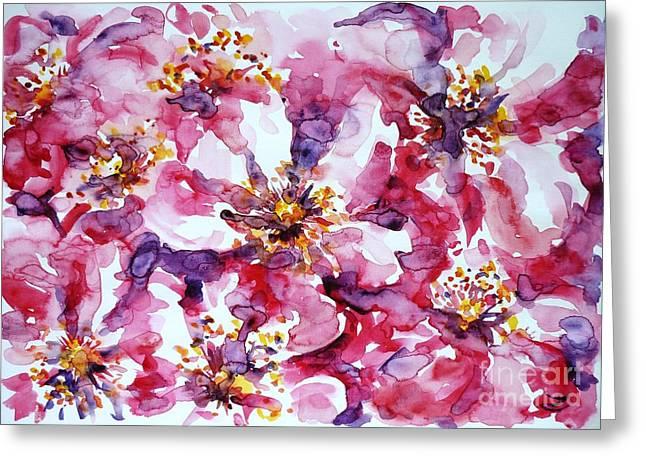 Wild Rose Greeting Card by Zaira Dzhaubaeva