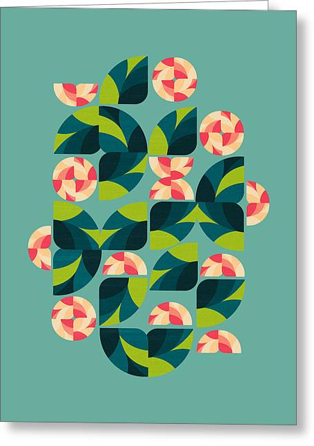 Pattern Greeting Cards - Wild Roses Greeting Card by VessDSign