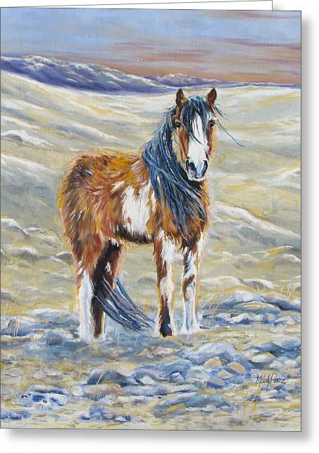Melody Perez Greeting Cards - Wild Rugged and Free Greeting Card by Melody Perez