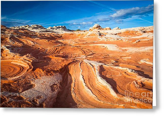 Geology Photographs Greeting Cards - Wild Sandstone Landscape Greeting Card by Inge Johnsson
