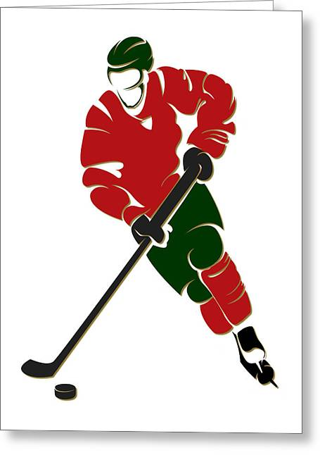 Ice-skating Greeting Cards - Wild Shadow Player Greeting Card by Joe Hamilton