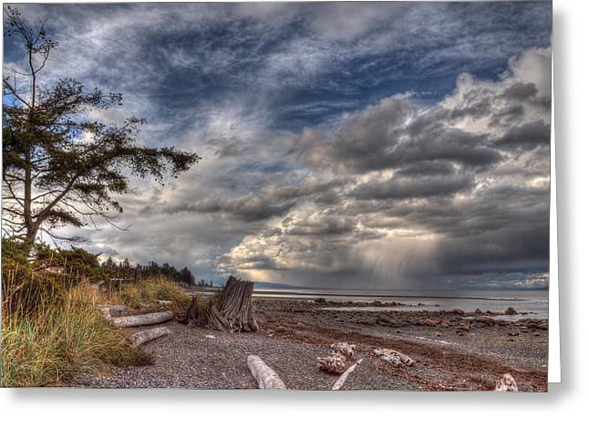 Squall Greeting Cards - Wild Sky Greeting Card by Randy Hall