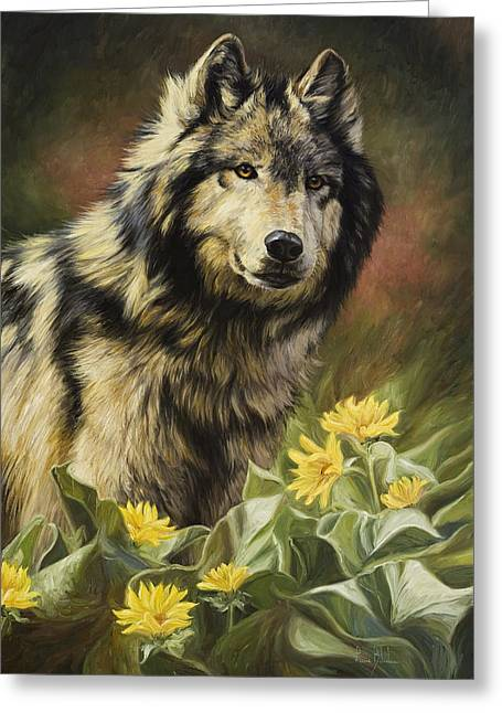 Outdoors Paintings Greeting Cards - Wild Spirit Greeting Card by Lucie Bilodeau